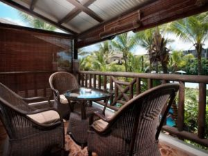 Budget Mauritius: Balkon vom Hotel Mauritius