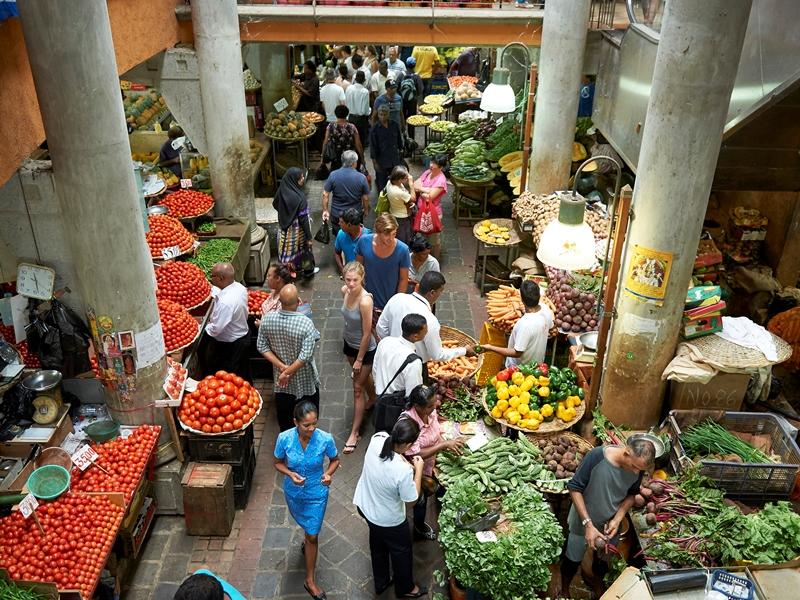 Markt in Port Louis Mauritius