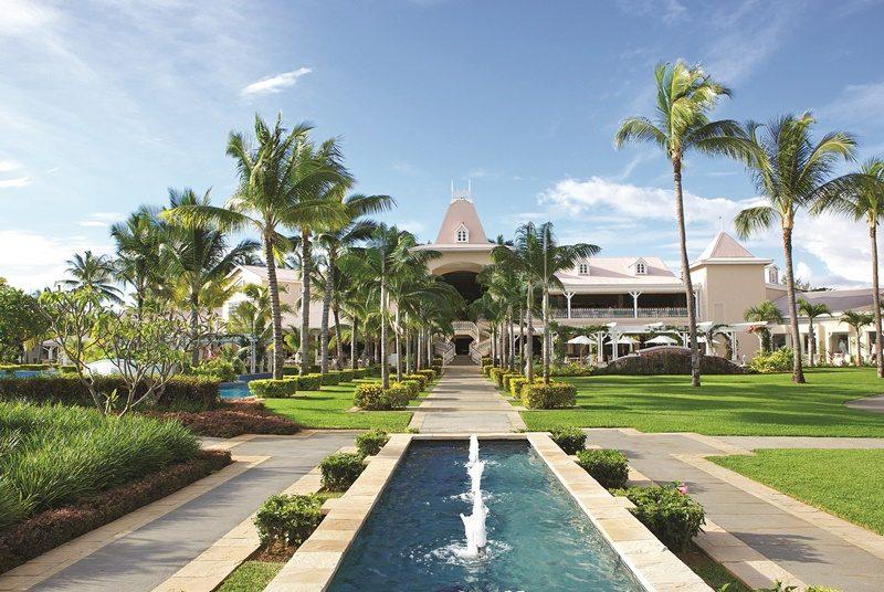 Eingang 5 Sterne Hotel Mauritius