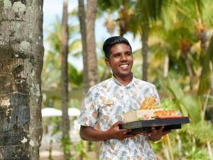 4 Sterne Hotel Mauritius: Begrüßung auf Mauritius