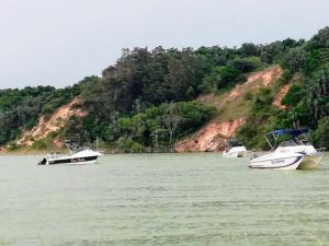 Boote auf dem Kosi Lake