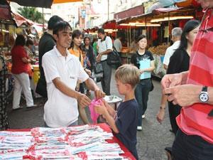 Markt in Chinatown in Kuala Lumpur
