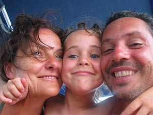 Familie im Malaysiaurlaub