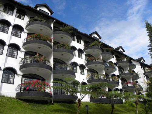 Koloniales Hotel in den Teefeldern in den Cameron Highlands