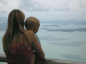 Malaysia Westküste: Aussicht von der Insel Langkawi