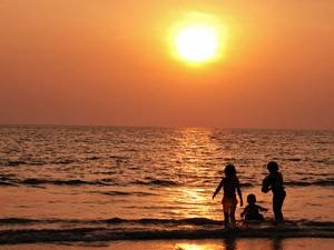 Sonnenuntergang am Strand von Langkawi