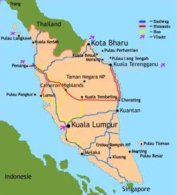 Übersichtskarte Malaysia