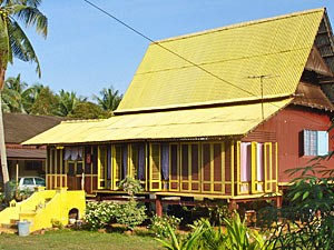 Haus im Außenviertel von Melaka