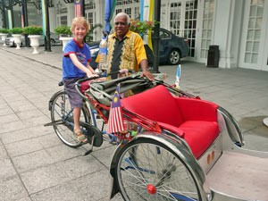 Rikschafahrer in Penang - Malaysia Highlights