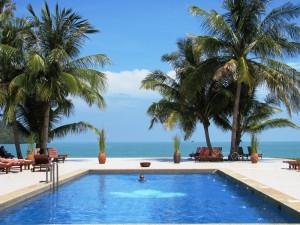 Hotelpool auf Langkawi