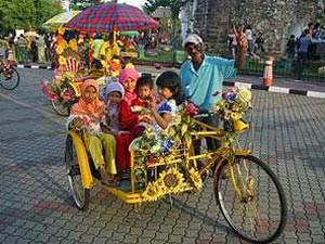 Rikschafahrer in Kota Bharu