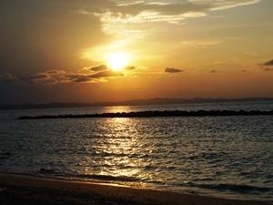 Sonnenuntergang auf Pulau Sibu