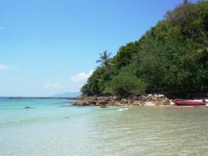 Strand auf Pulau Sibu