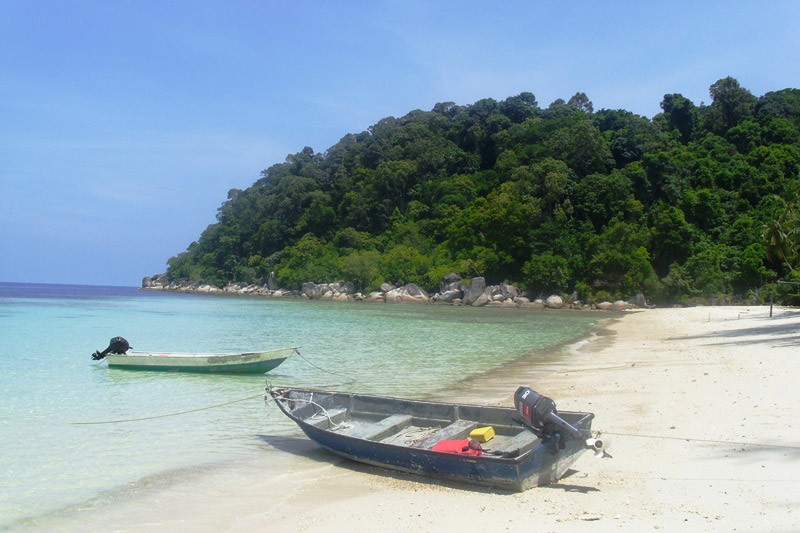 Boote auf den Perhentian Islands