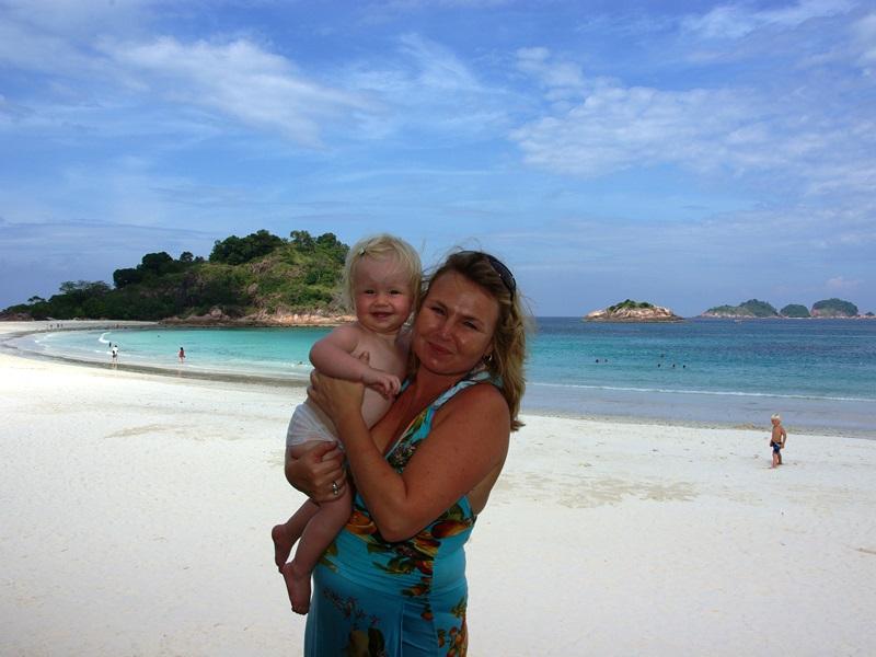 Familie auf Pulau Redang