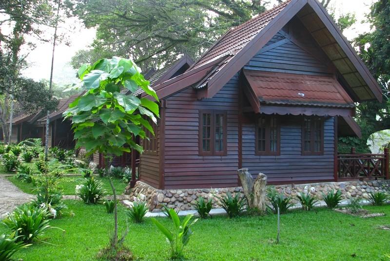 Holzbungalow im Taman Negara Nationalpark