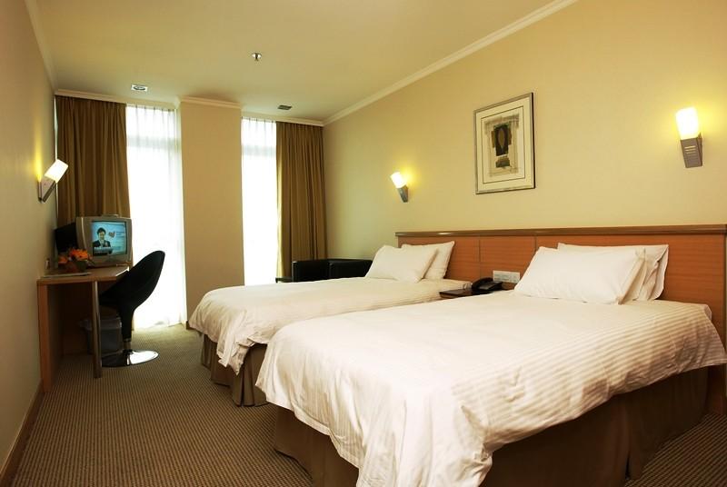 Schlafzimmer im Hotel in Singapur