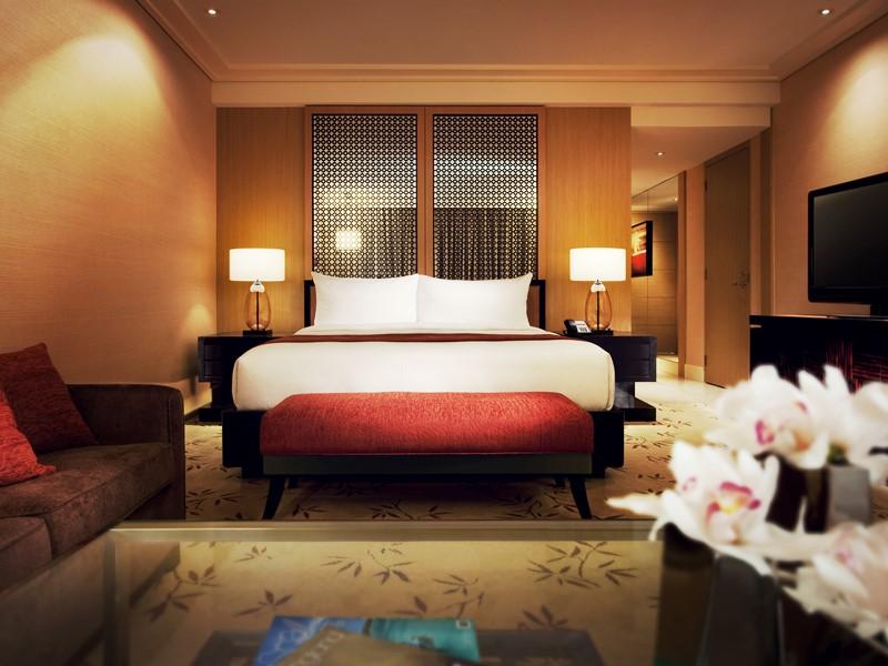 Schlafzimmer im Upgrade Hotel in Singapur