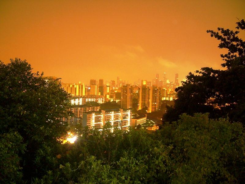 Singapur zum Sonnenuntergang