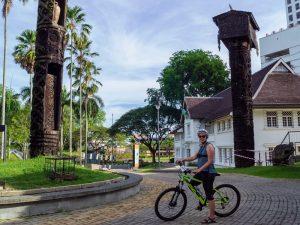 Radtour durch Kuching Malaysia