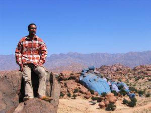 Wandern Marokko Blaue Felsen Tafraoute