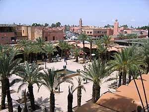 Marokko Highlights: Ausblick über Marrakesch