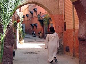 Typische Gassen in der Königsstadt Marrakesch