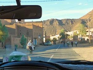 Sternwarte Marokko: Ausblick aus dem Auto unterwegs nach Zagora