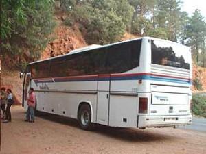 Mit dem Bus durch das Land