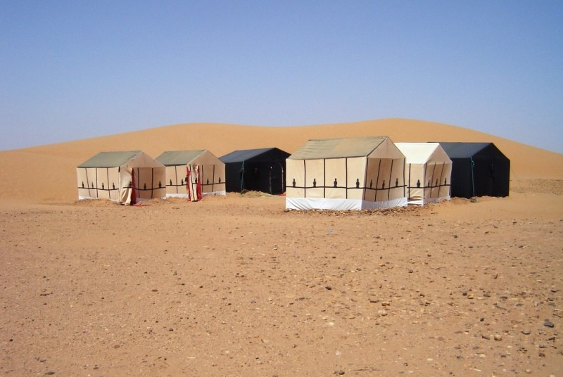 Camp in der Wüste Merzouga