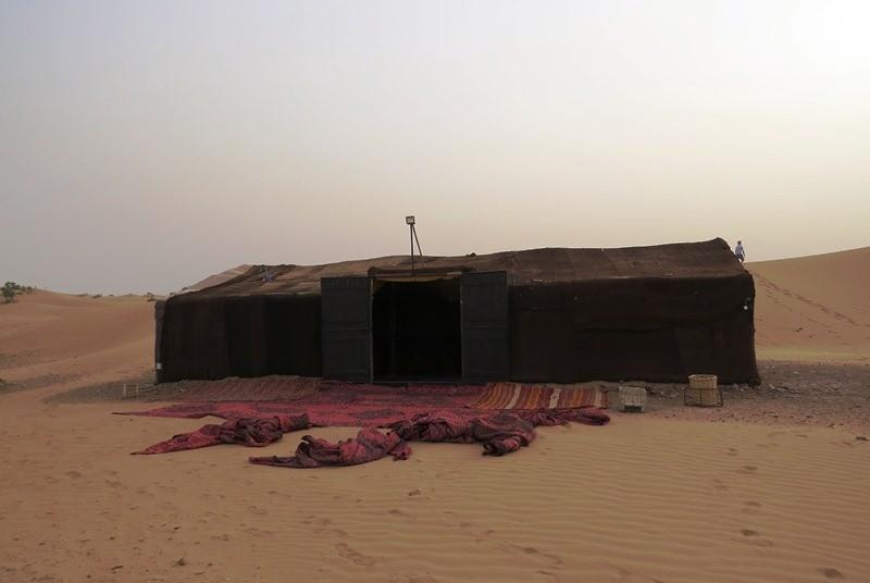 Biwakübernachtung Zagora Wüste Marokko