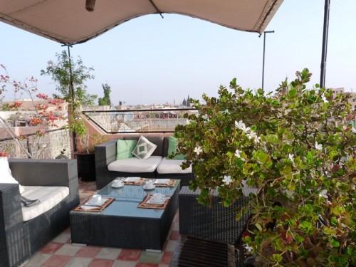 Dachterrasse eines Riads