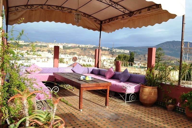 Städte in Marokko Hotel mit Dachterrasse Riad Fes