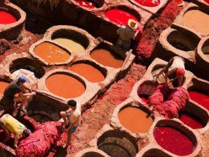 Städte in Marokko Fes Gerberei im Norden Marokkos
