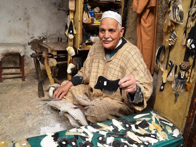 Städte in Marokko: Marokko Norden Handwerk Souks Verkäufer