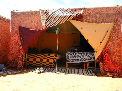 Wüstenübernachtung Merzouga Zelt Marokko