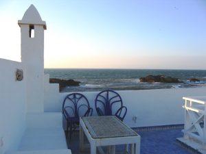 Unterkunft Dachterrasse Essaouira Marokko Familienreise