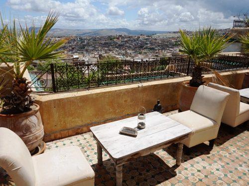Städte in Marokko Hotel Dachterrasse Frühstüc