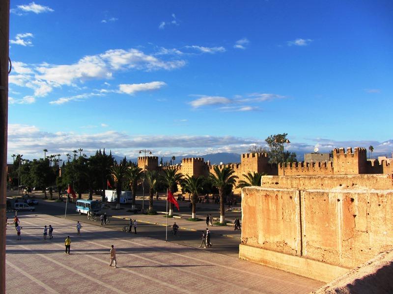 Stadtmauer Taroudant Aussicht Marokko Familienrundreise