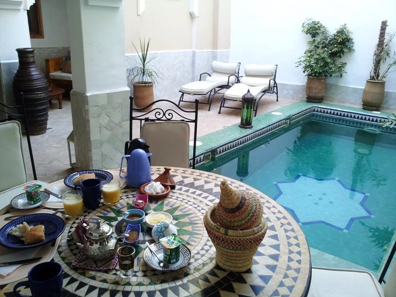 Frühstück Riad mit Pool Taroudant
