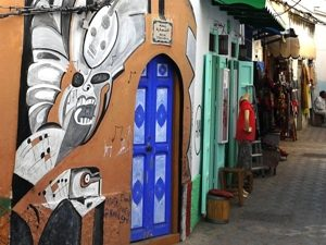 Städte in Marokko Wandmalerei Asilah nördliches Marokko