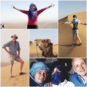 Familie Goddard in der Wüste