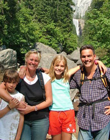 Familie im Nationalpark