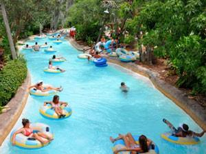 Reifenrutsche im Wasserpark in Orlando