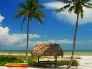Florida Rundreise mit Kindern: Strand in Sanibel