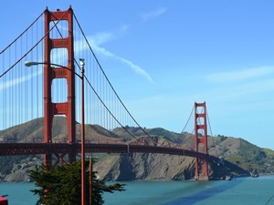 Kalifornien Rundreise: Golden Gate Bride in San Francisco