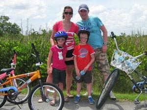 Kalifornien Rundreise: Familie mit Fahrrädern