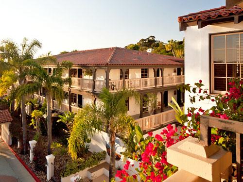 Mexikanisches Hazienda Hotel in der Altstadt in San Diego