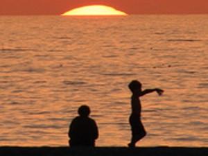 Südwesten USA: Sonnenuntergang am Strand von Santa Monica