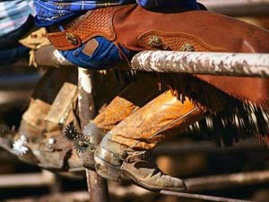 Cowboys auf einer Ranch in den USA